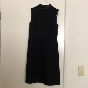 Ellen Tracy Black Midi Business Dress w No Sleeves